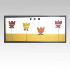 Cuadro flores (145x55cm)