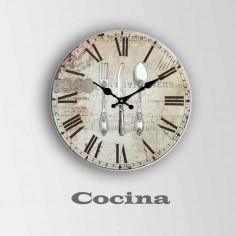 Reloj de cocina en madera...