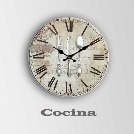 Reloj de cocina en madera  (Diametro...