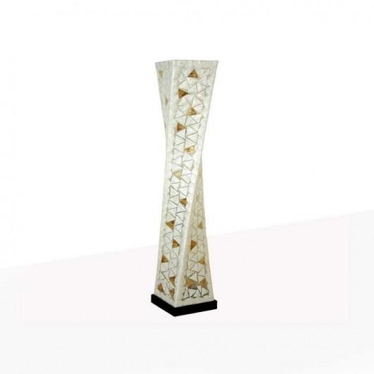 Lámpara de pie fibra-nacar (150x25cm)