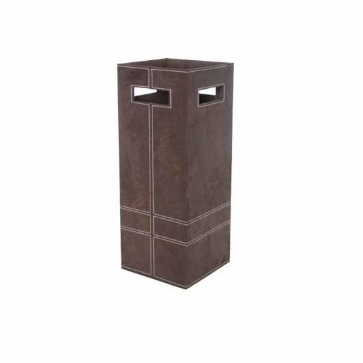 Paraguero polipiel marron (56x21cm)