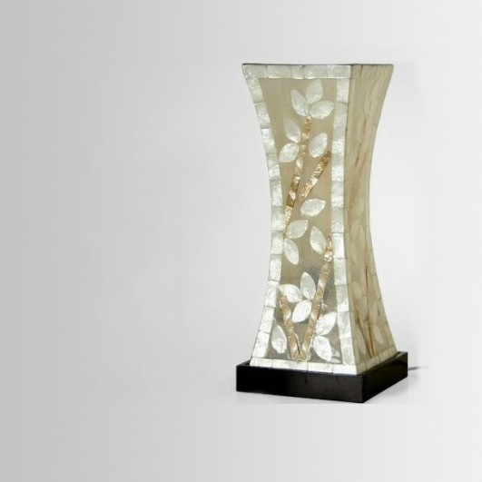 Lámpara sobremesa fibra/nacar