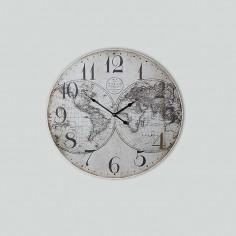 "Reloj pared madera ""Mapa..."