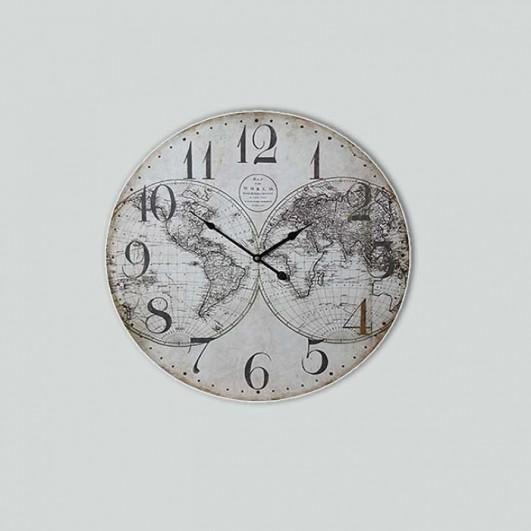 """Reloj pared madera """"Mapa Mundi""""..."""