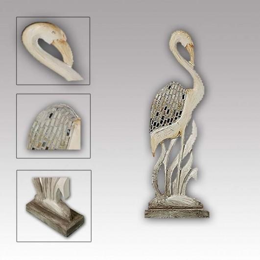 Figura Flamenco Madera C/adornos...