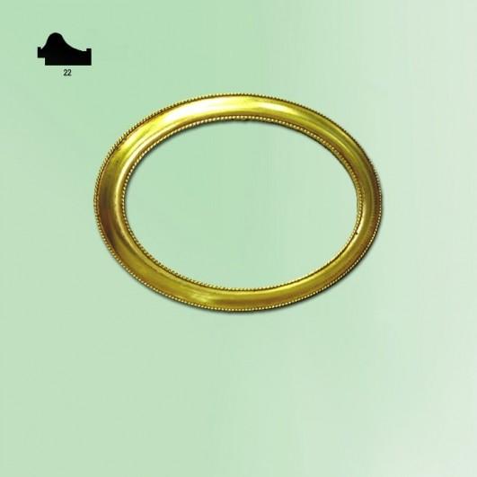 Ovalo pan de oro n295 (varios tamaños)