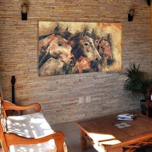 """Cuadro sin marco """"Retrato caballos""""..."""