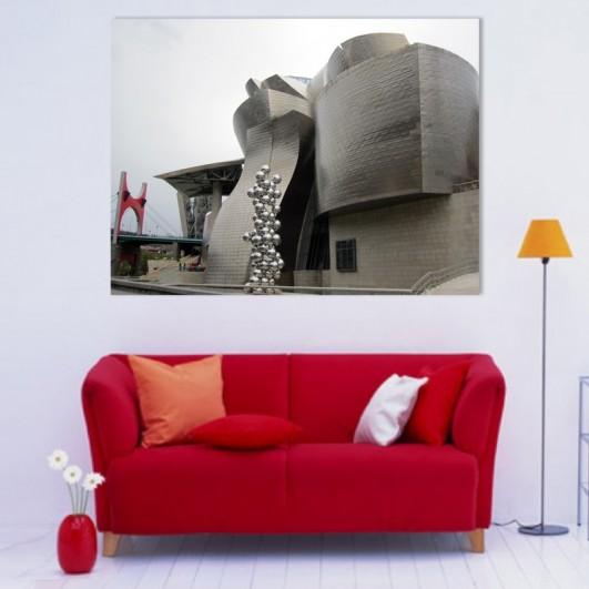 """Cuadro sin marco """"Guggenheim y..."""