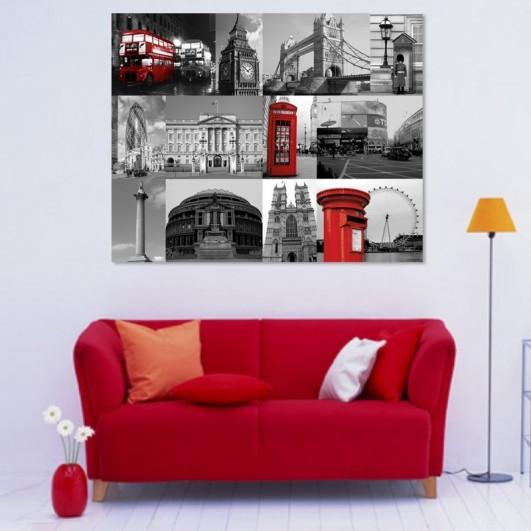 """Cuadro sin marco """"Collage Londres"""" en..."""