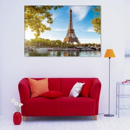 """Cuadro sin marco """"Torre Eiffel y..."""