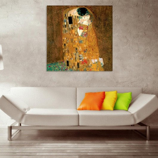 "Cuadro sin marco ""Beso de Klimt"" en..."