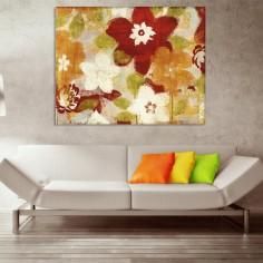 """Cuadro sin marco """"flores..."""