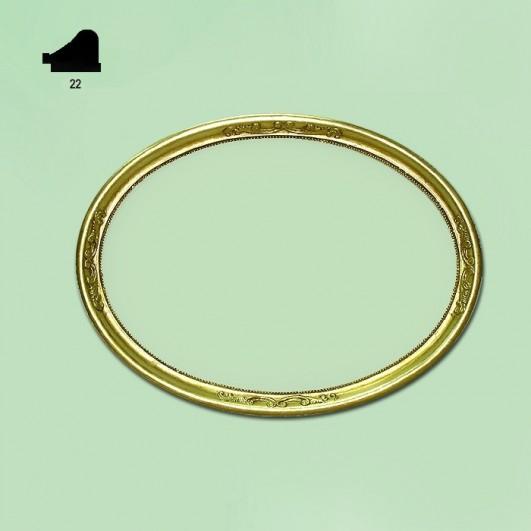 Ovalo pan de oro n162 (varios tamaños)