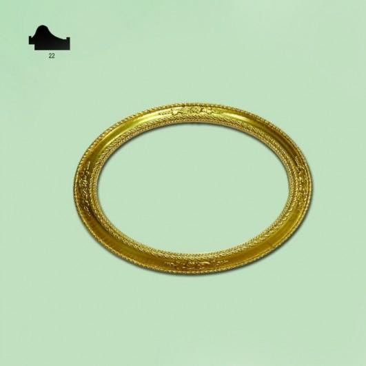 Ovalo pan de oro n172 (varios tamaños)