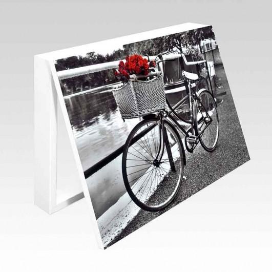 Cubrecontador bicicleta con rosas...