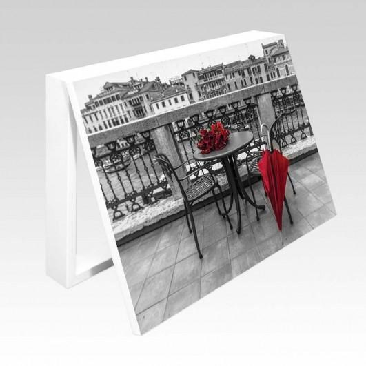 Cubrecontador paraguas rojo en...
