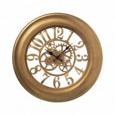 Reloj pared resina dorado...