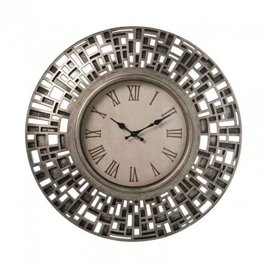 Reloj pared resina plateado (Diámetro...