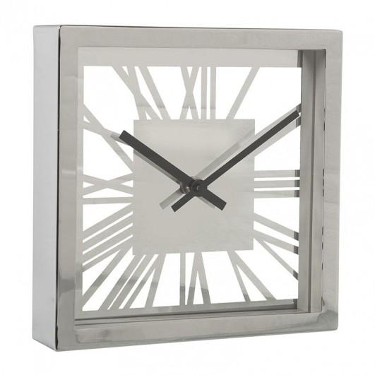 Reloj Sobremesa Metal Plateado...