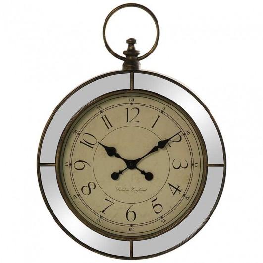 Reloj pared en resina dorada con...