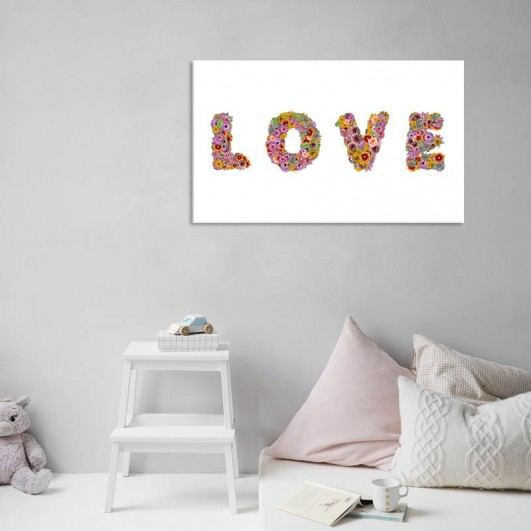 """Cuadro sin marco """"Letras Love"""" en..."""