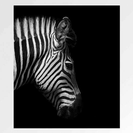 """Cuadro sin marco """"Zebra"""" en lienzo o..."""