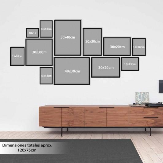 Galería de 12 marcos de madera en...