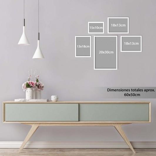 Galería de 5 marcos de madera en...