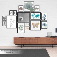 Galería 16 marcos de madera...