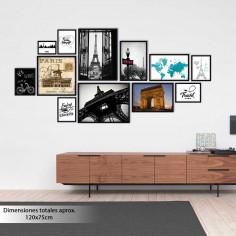 Galería 12 marcos de madera...