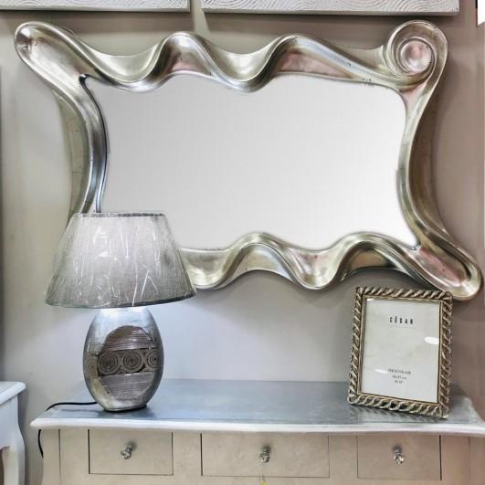 Espejo formas circulares color plata...