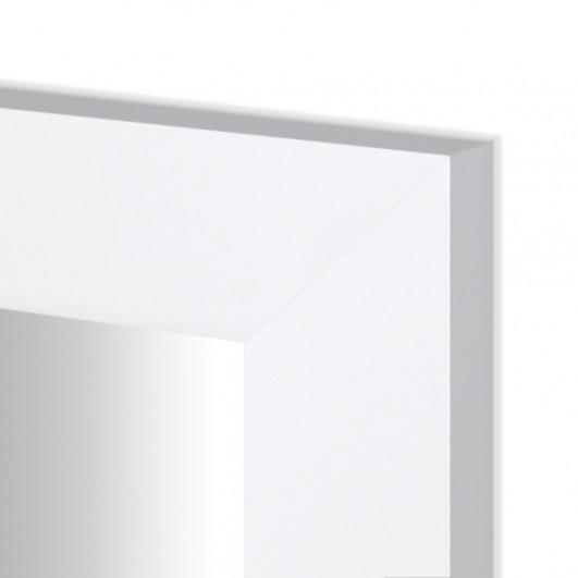 Cuadro con espejo, marco blanco...