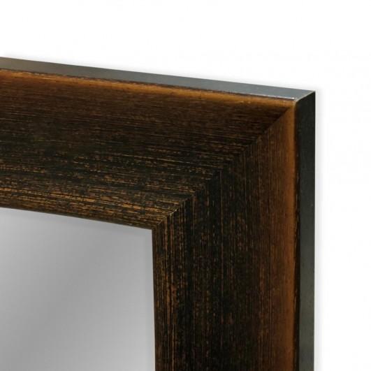 Cuadro con espejo, marco nogal perfil...