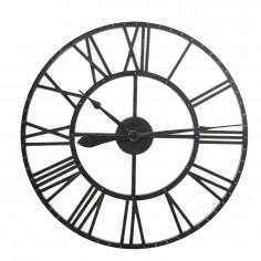 Reloj pared resina negro...