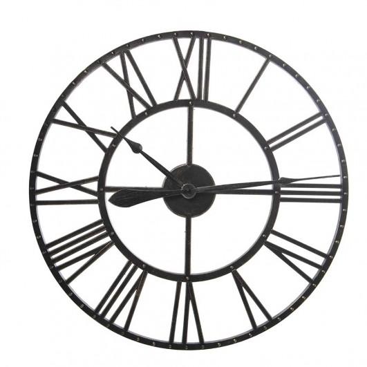 Reloj pared resina negro  (Diámetro...