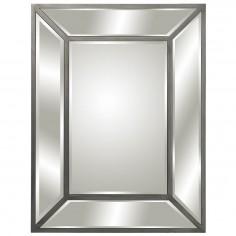 Espejo de madera plata con...