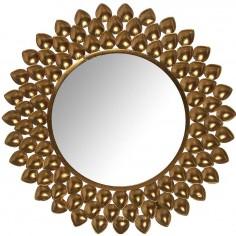 Espejo metal dorado...