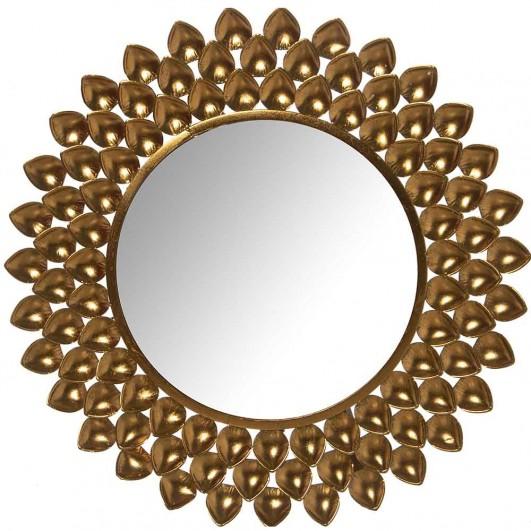 Espejo metal dorado (Diámetro 80,5cm)