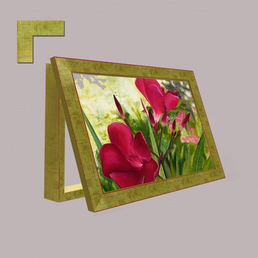 Cubrecontador de flores con moldura...