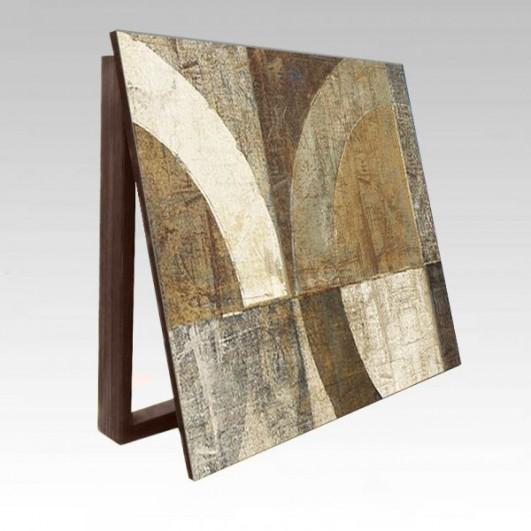 Cubrecontador l mina abstracta tonos marrones beig y - Cubre cuadro electrico ...
