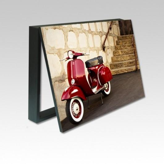 Cubrecontador fotografia Vespa roja...